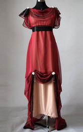 Edwardian Wine Evening Handmade In England Downton Abbey Inspired Titanic 1912 Styled Dress