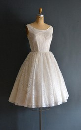 Aimee 50S Lace Short Wedding Weddig Dress