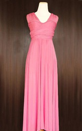 Rouge Convertible Wrap Full Length Dress