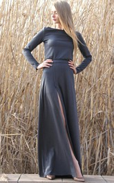 Maxi Comfortable With Slit Dress