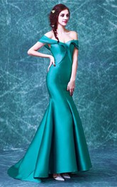 Newest Off-the-shoulder Mermaid 2018 Prom Dress Sweep Train Zipper