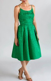 Vintage 1960S Party Darling Green Brocade Bridesmaid Mother Of The Bride Dress
