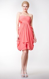 Sweetheart Empire Chiffon Bridesmaid Dress with Tulip Skirt