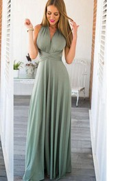 Long Boho Infinity Bridesmaid Dress
