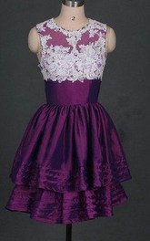 Short Eggplant Taffeta Prom Hot Cheap Bridesmaid Under 150 Cute Junior Gowns For Pageant Party Dress
