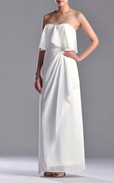 Sweetheart Sheath Chiffon Floor-length Dress With Side Draping