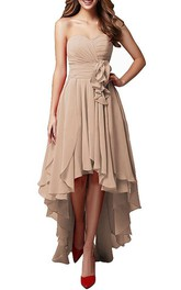 Sweetheart High Low Dress With Layered Skirt