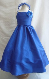 Sleeveless Ruched Royal Wedding Easter Junior Bridesmaid For Children Dress