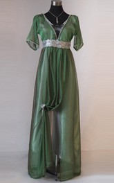 Edwardian Emerald Evening Handmade In England Downton Abbey Titanic 1912 Styled Dress
