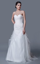 Brilliant Strapless Beaded A-line Tulle Gown