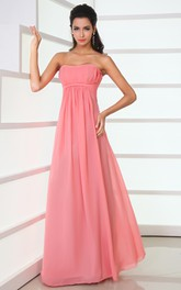 Gossamery Strapless Style Maxi Dress With Zipper Back