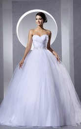 Beaded Sash Criss-Cross A-Line Ruching Ball Gown With Drapings