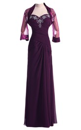 Sweetheart Chiffon Gown With Matching Jacket