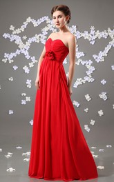 Charming Long Maxi Style Dress With Bow And Ruching