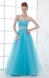 sweetheart a-line tulle gown with crystal detailing