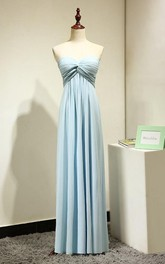 Sweetheart Chiffon Long Bridesmaid Dress