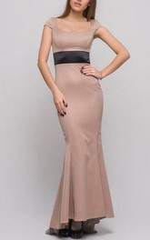 Beige Maxi Woman Cocktail Wedding Formal Mermaid Long Prom Evening Gown Bridesmaid Party Dress