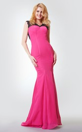 Criss Crossed Ruched Backless A-line Long Chiffon Dress