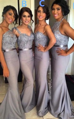 c09e4bff3 Different Styles Lace Appliques Mermaid Bridesmaid Dress 2018