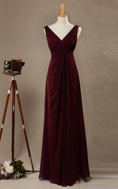 Vestidos De Damas De Honor Color Vino Tinto Unpasticheorg