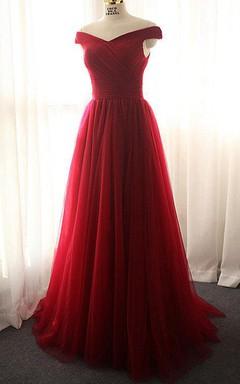 Vestidos color rojo vino largos
