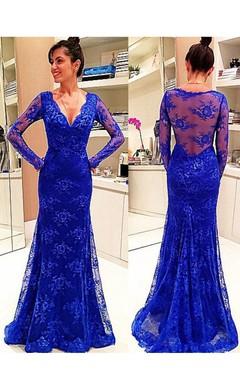 fa022d1d5 Long Elegant Royal Blue Prom Dresses - June Bridals