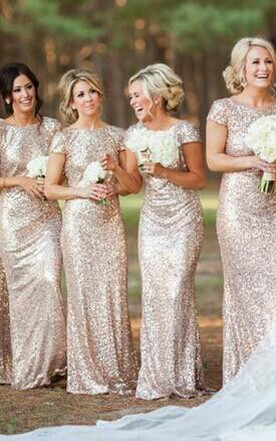Champagne Color Bridesmaids Dress Beige Colored Dresses For