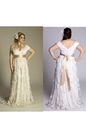 Casual Plus Figure Wedding Gowns Casual Style Large Size Bridal