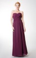 Sweetheart Long Chiffon Bridesmaid Dress with Criss Cross Ruching